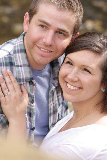 Happy engagement portrait