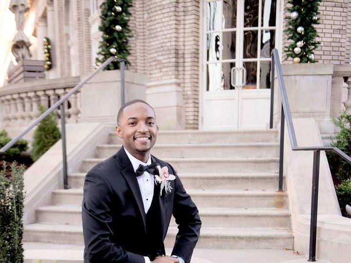 Tmx Groom Smiling On Stairs Outside In Black Tie And Suit Adriennekeith Wedd 0608 51 148902 160865688714084 Atlanta, Georgia wedding venue