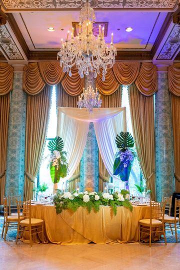 Elegant palm floral arrangements