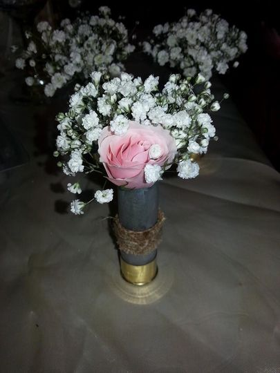 White flowers with soft pink flower
