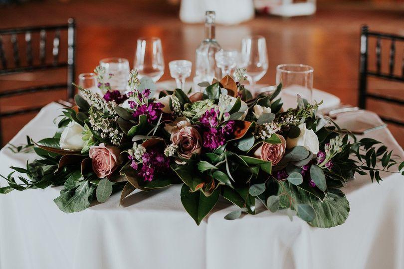 Sweetheart table arrangement