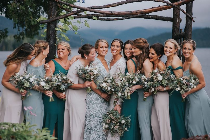 Wedding bouquets of the ladies