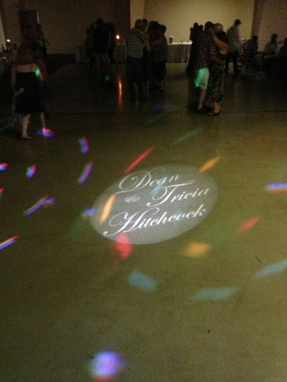 Custom Gobo with Bride and Groom Name