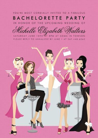 unique stylish invitations for bridal showers, bachelorette parties.