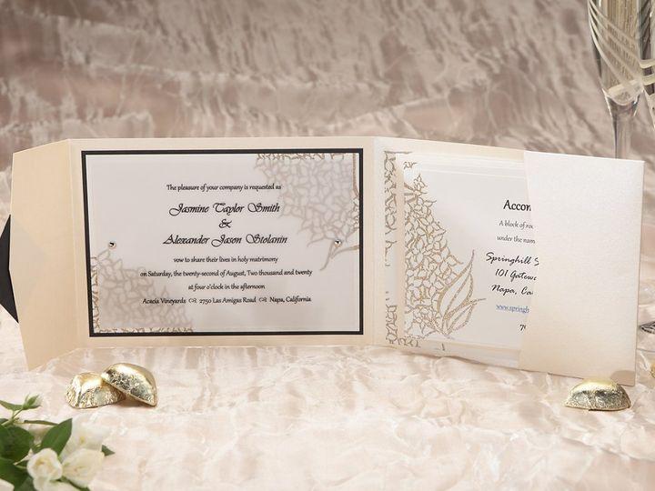 Tmx 1348299707822 ImageLuxeWCEntireInvitationOpenViewICON Dallas wedding invitation