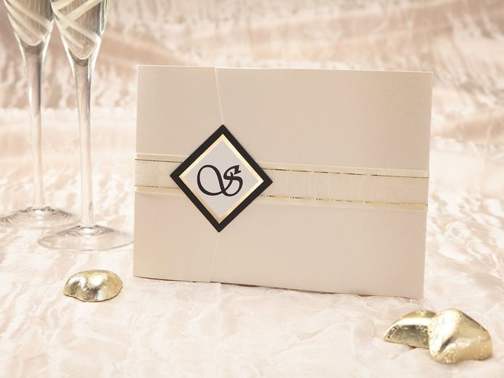 Tmx 1348299724542 DiamondSealwithRibbon Dallas wedding invitation