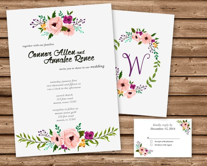 Party print express invitations madison al weddingwire 800x800 1439493624451 wedding watercolor set stopboris Gallery