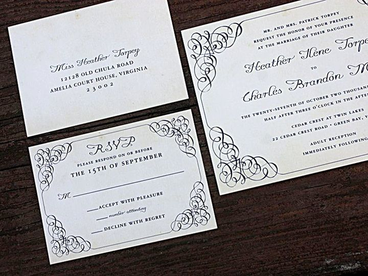 Tmx 1356010589773 Heather1 Forest Hills, NY wedding invitation