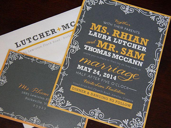 Tmx 1418235435724 Lutcher1 Forest Hills, NY wedding invitation