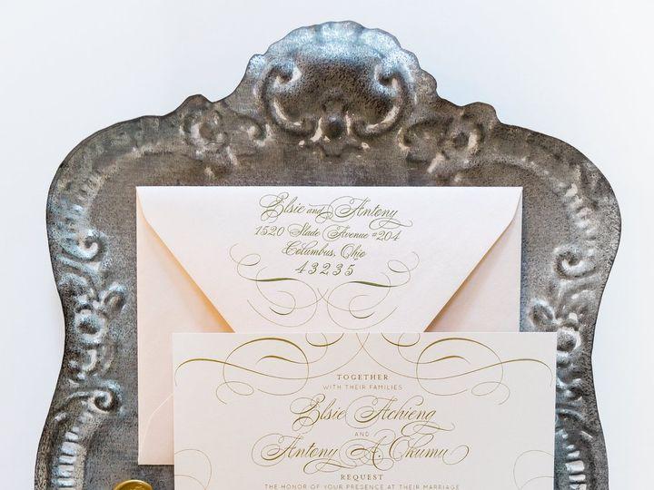 Tmx Blush Gold Shimmer Fancy Wedding Invitation 51 501012 Forest Hills, NY wedding invitation