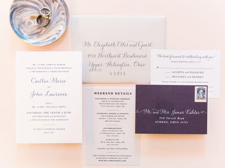 Tmx Classic Navy White Wedding Invitation 51 501012 Forest Hills, NY wedding invitation