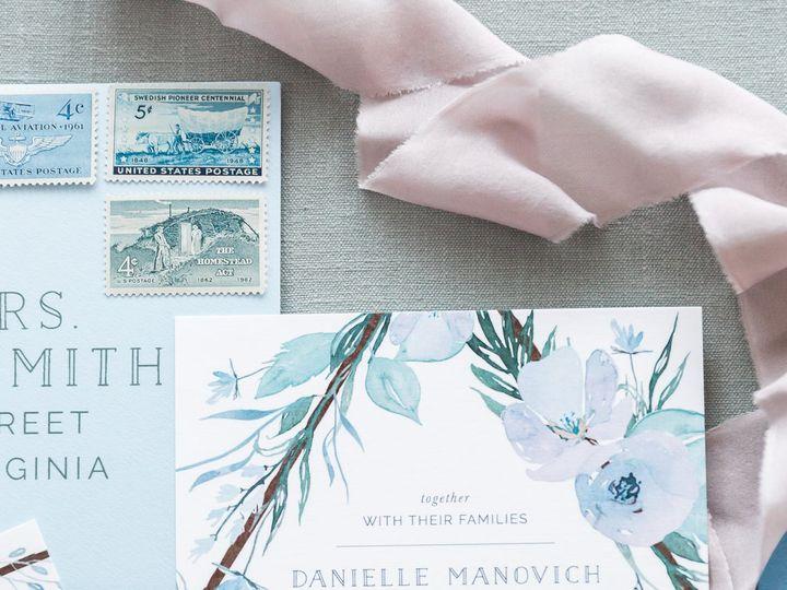 Tmx Dusty Blue Watercolor Wedding Invite 51 501012 Forest Hills, NY wedding invitation