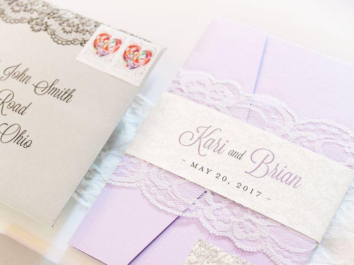 Tmx Lavendar Lace Wrapped Pocketfolder Wedding Invitation 51 501012 Forest Hills, NY wedding invitation