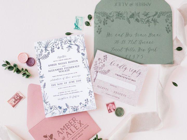 Tmx Mauve Green Organic Rustic Greenery Wedding 51 501012 Forest Hills, NY wedding invitation