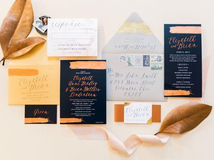 Tmx Metallic Painted Wedding Invitation 51 501012 Forest Hills, NY wedding invitation