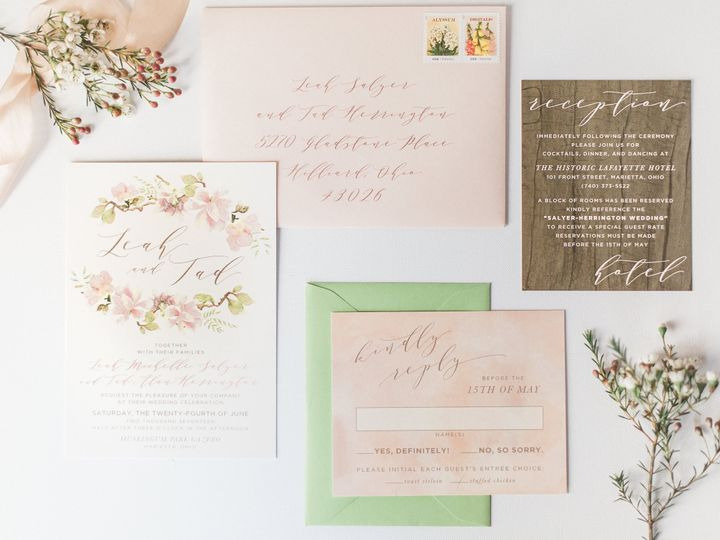 Tmx Pink Floral Watercolor Spring Garden Wedding Invitation 51 501012 Forest Hills, NY wedding invitation