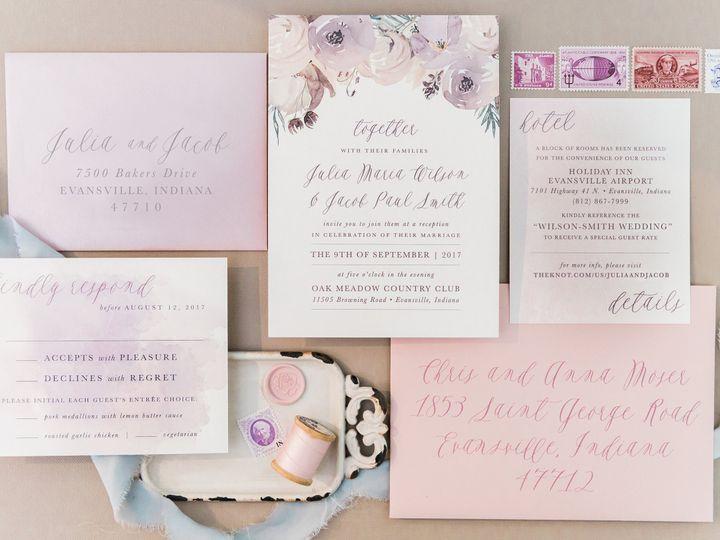 Tmx Pink Purple Watercolor Flowers Wedding Invite 51 501012 Forest Hills, NY wedding invitation