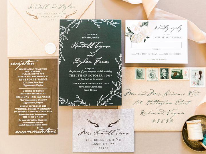 Tmx Rustic Green Wedding Invitation 51 501012 Forest Hills, NY wedding invitation