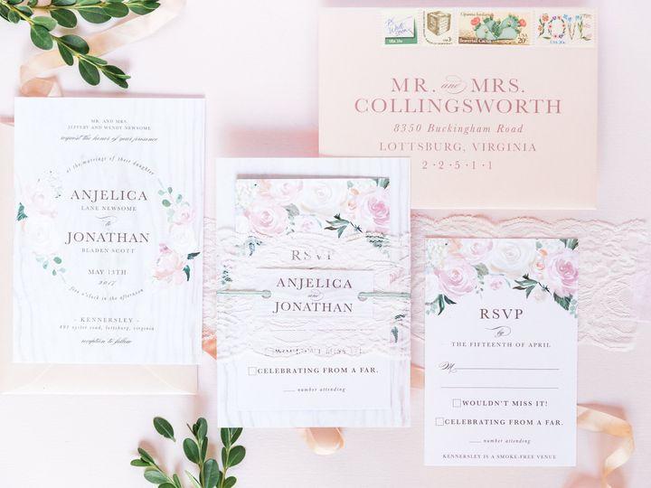 Tmx Rustic Peach Watercolor Flower Summer Wedding Invitation 51 501012 Forest Hills, NY wedding invitation