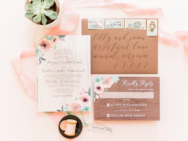 Tmx Rustic Pink Succulent Wedding Invitation 51 501012 Forest Hills, NY wedding invitation