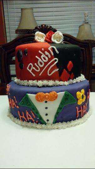 harley quinn joker cake