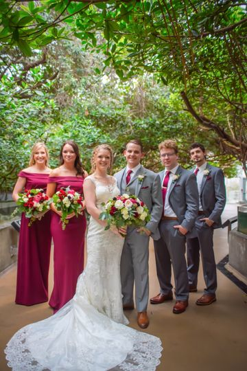 Wedding party in the wetlands