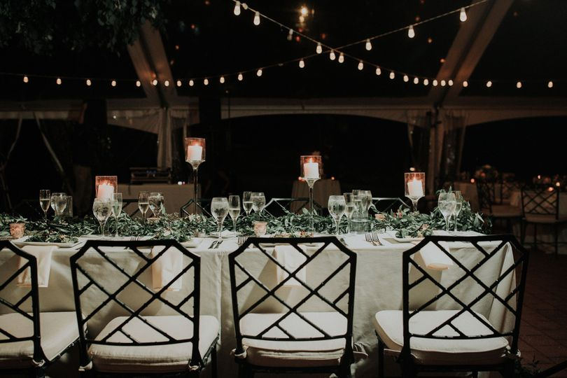 Greenery tablecape
