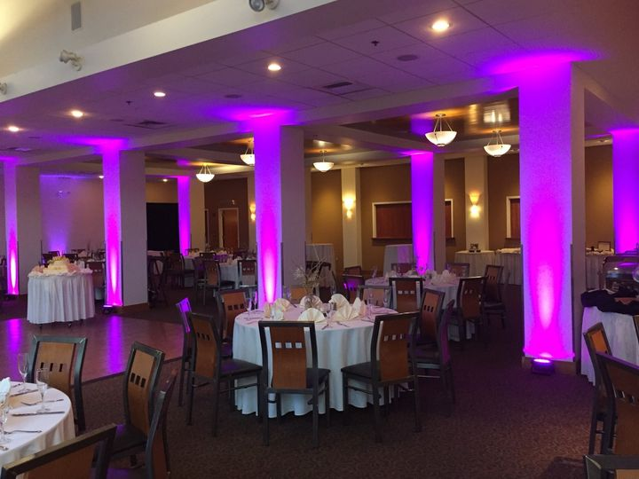 Sophisticated pink uplighting