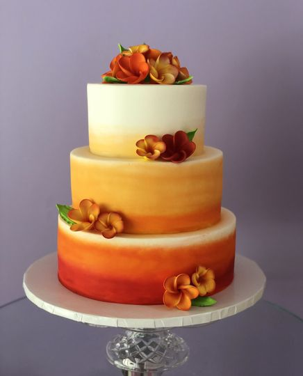 Ombre sunset cake
