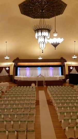 Great hall ceremony setup