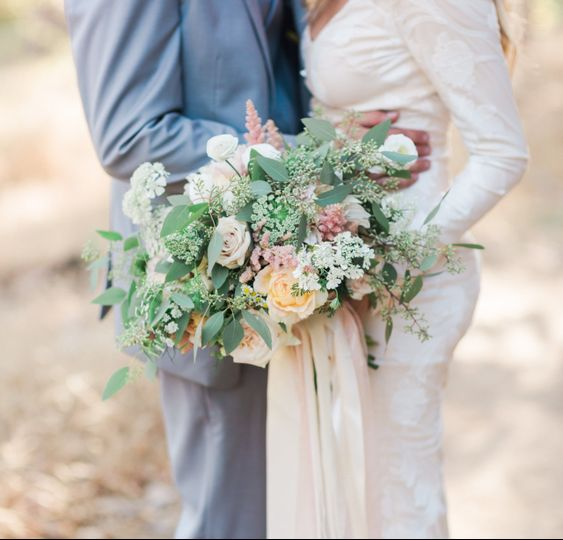 Light themed bouquet Valorie Darling Photography