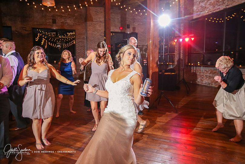 indianapolis wedding dj bride dancing