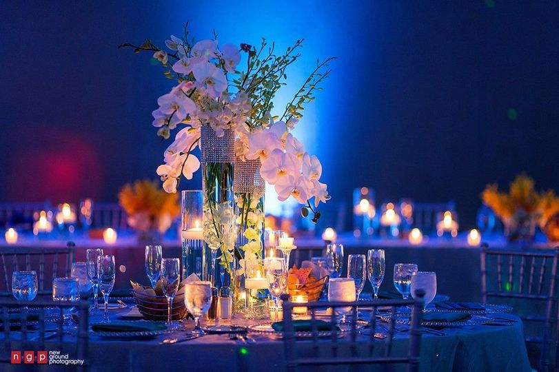 Candlelit tables