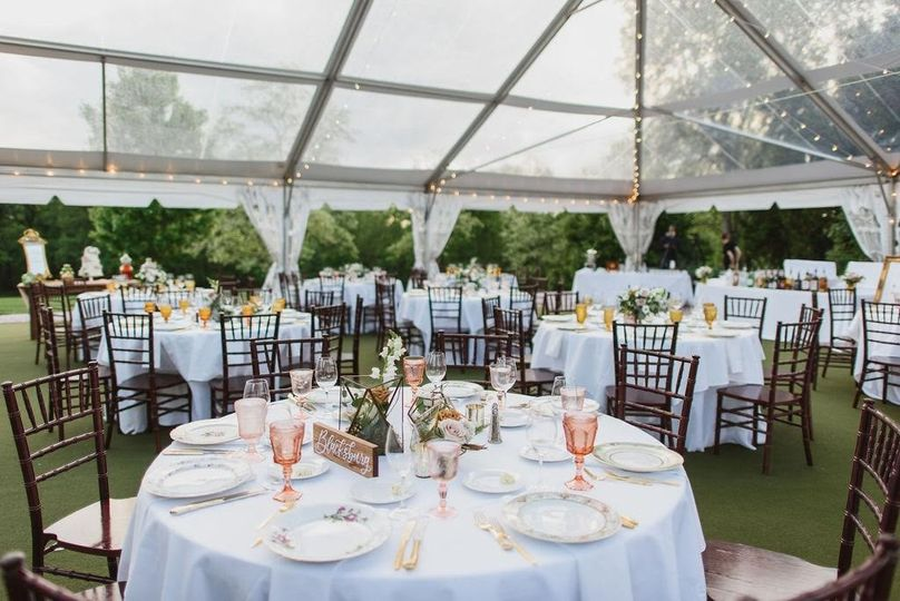 Tented Croquet Lawn Reception