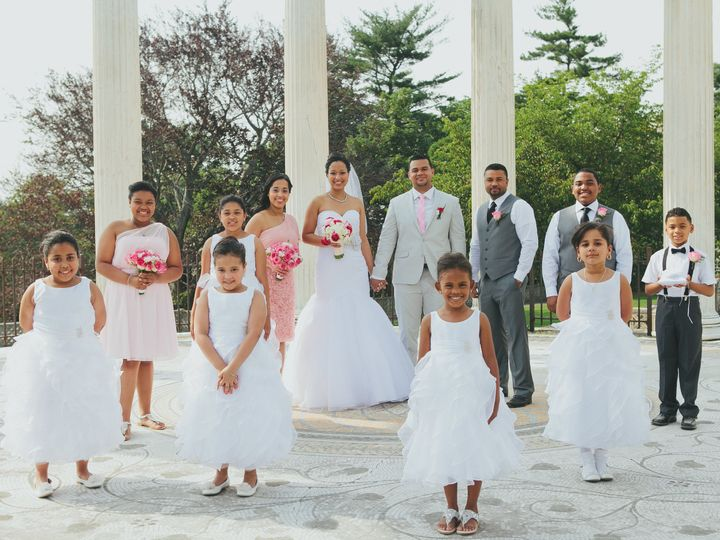Tmx 1530323255 2f8772c6e45b9dd9 Yessica Wedding With Entire Bridal Party College Point, NY wedding officiant