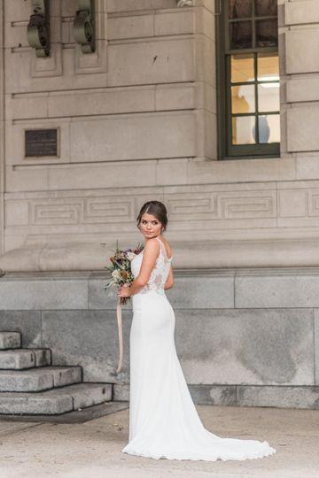 A classic bridal portrait