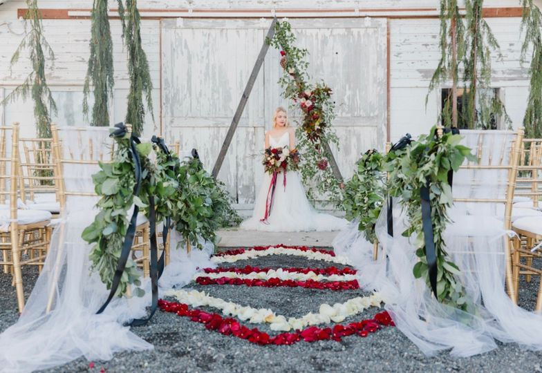 Luxe boho wedding ceremony