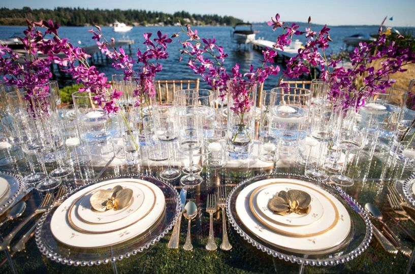 Waterfront dining elegance