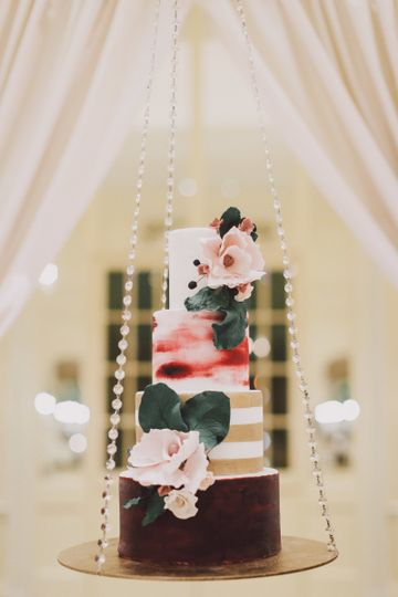 There is nothing like a hanging cake!