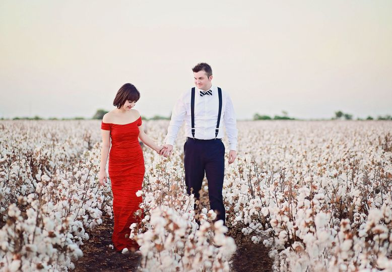 Classic Engagement Session in the Cotton fields of Taylor, TX, Kati Maxwell