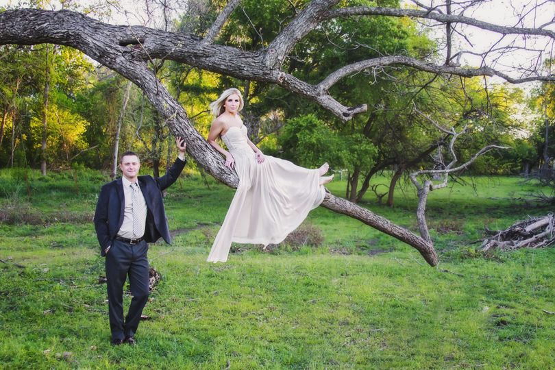 Elegant Bride and Groom Portrait in the trees, Granger TX, Kati Maxwell