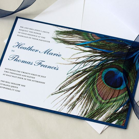 Peacock Wedding Invitation
