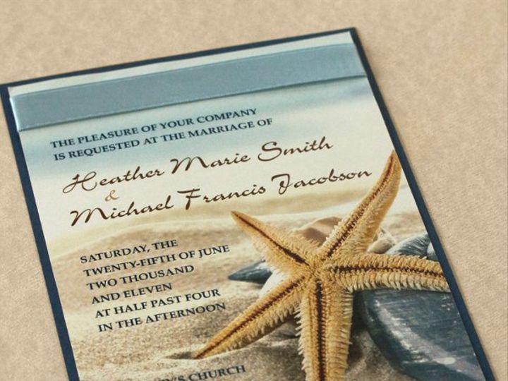 Tmx 1326384885565 StrfshBeech1 Newtown, New York wedding invitation