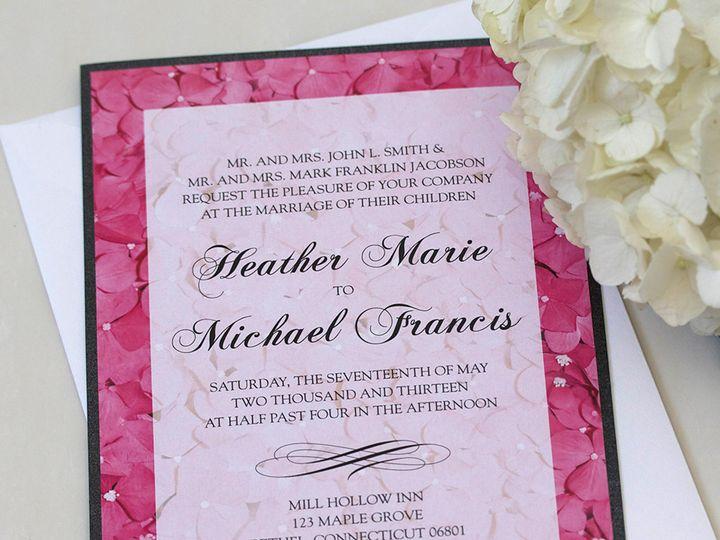Tmx 1391030363082 Pnkhydrnginvite Newtown, New York wedding invitation