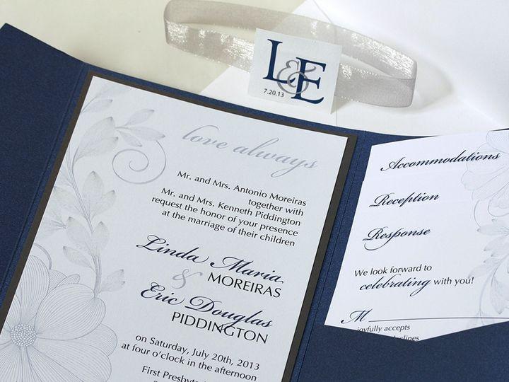 Tmx 1391030392643 Fadedflwrinvite Newtown, New York wedding invitation