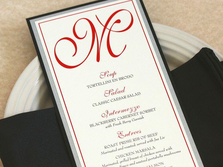 Tmx 1391031063848 Initialmenu Newtown, New York wedding invitation