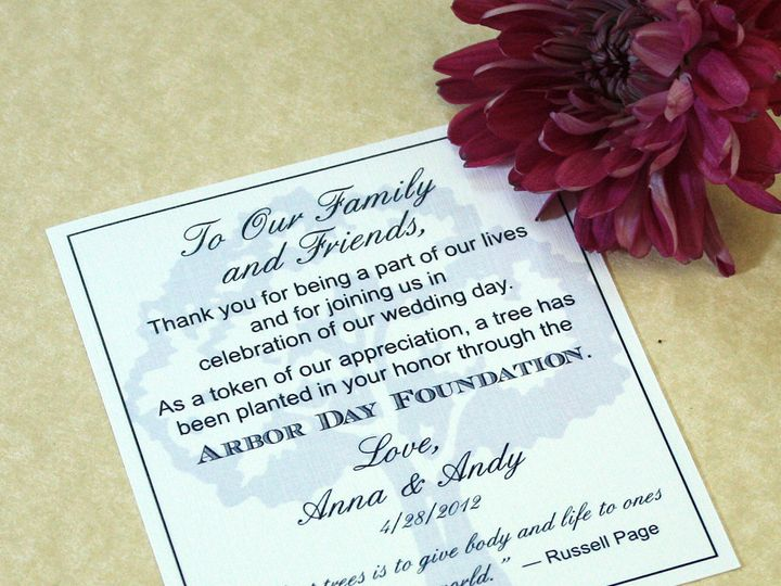 Tmx 1391031268438 Treecharitycard Newtown, New York wedding invitation