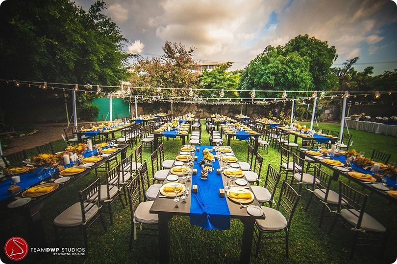 Outdoor reception setup