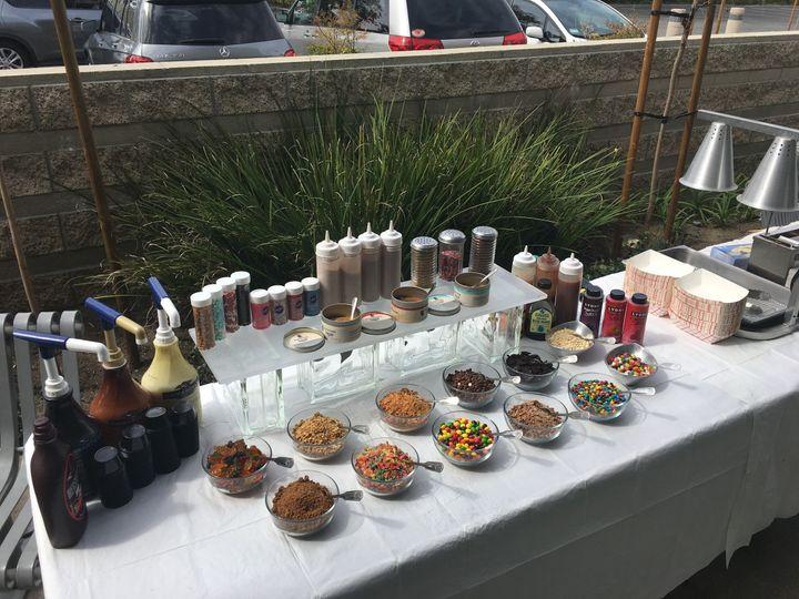 the mini donut factory event setup 1