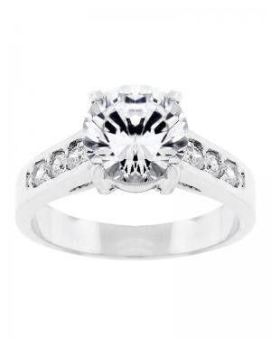 Circle cut diamond ring